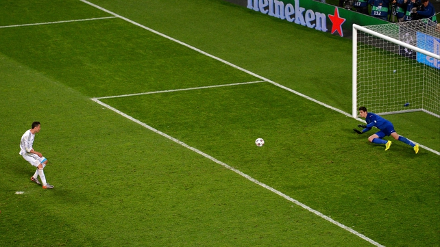 Cristiano Ronaldo scores the final goal of the game from the penalty spot