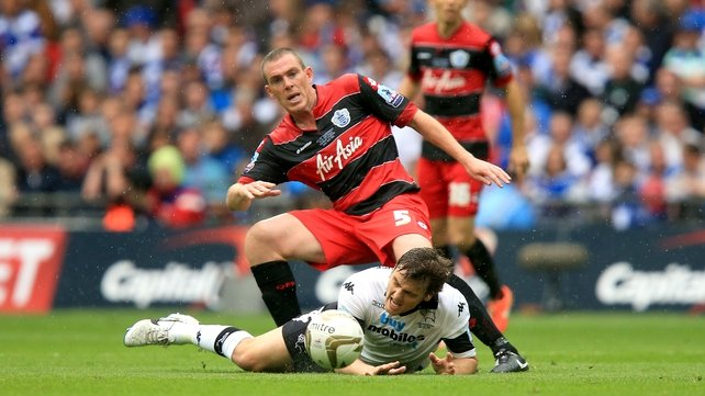 Richard Dunne in action during the Championship play-off