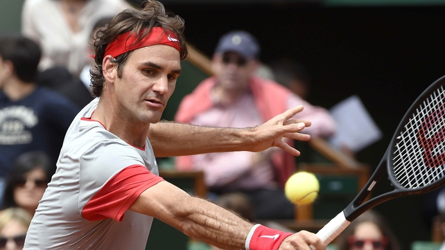 Roger Federer had few worries against Lukas Lacko