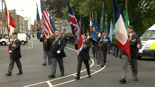 Veterans marched through Limerick city centre to Limerick Civic offices