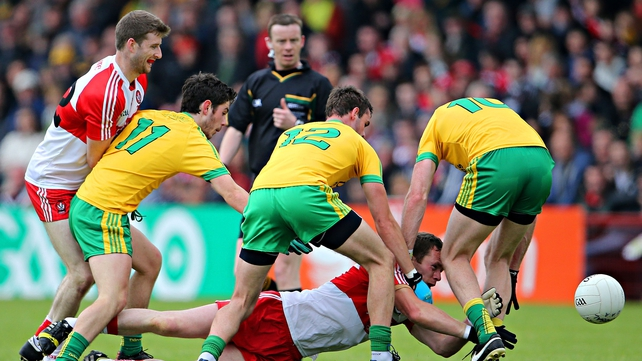 Donegal defeated Derry by three points