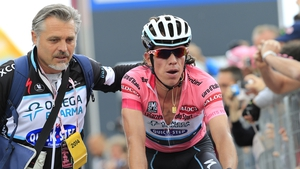 Rigoberto Uran has extended his lead in the maglia rosa