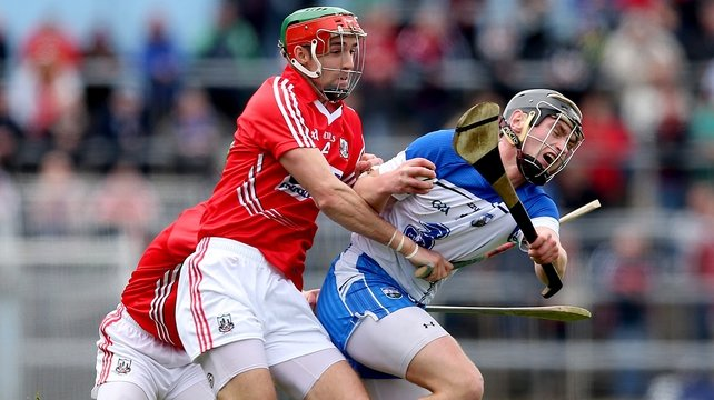 Cork's Stephen McDonnell battles with Pauric Mahony of Waterford