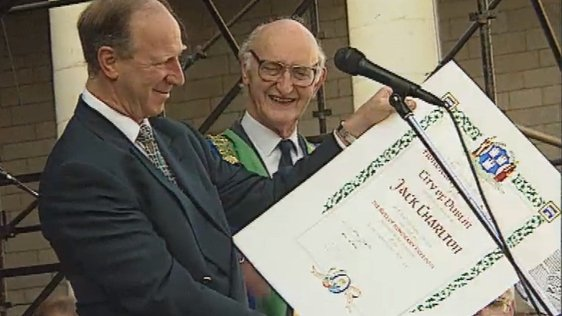 Jack Charlton Receives Freedom of Dublin