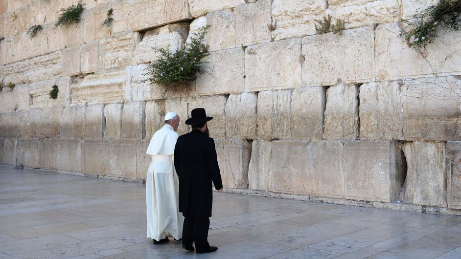 Pope Francis visits the Western Wall, Judaism's holiest site, in Jerusalem's Old City, Israel