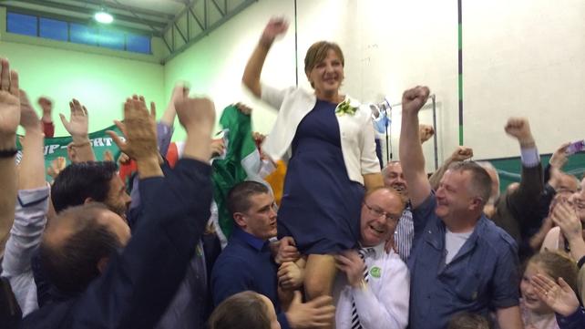 Liadh Ní Riada celebrates her election