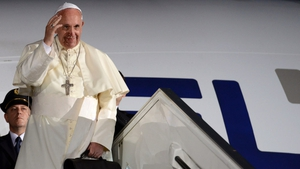 Pope Francis made his remarks on the plane on his way back from a visit to the Middle East