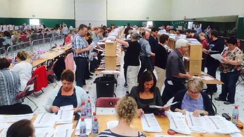 Counting resumed in the two European constituencies this morning