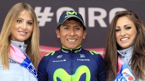 Nairo Quintana fought off the challenge of Ryder Hesjedal to claim the stage win