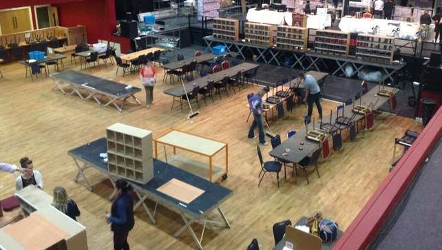 Around 70 volunteers went to the count centre to help with the recheck