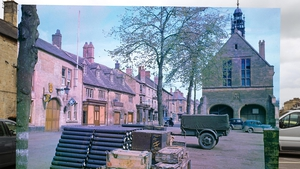 A view of Moreton town square in England, which was stockpiled with supplies and ammunition earmarked for the invasion