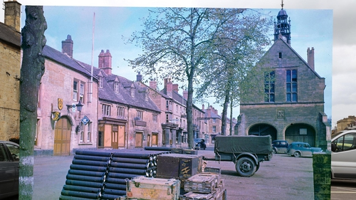 Then and now: Moreton in Marsh, England