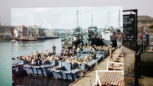 Boats full of US troops waiting to leave Weymouth