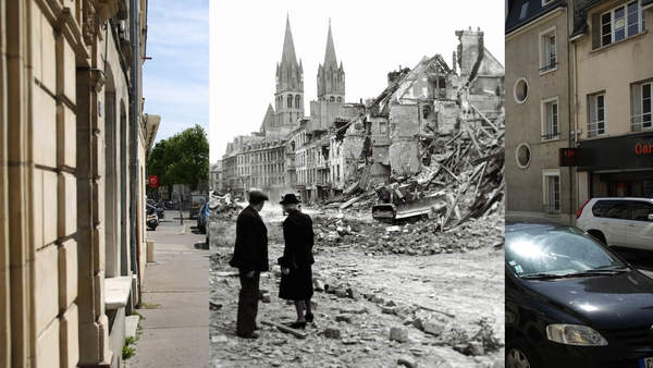 Then and now: Caen, France