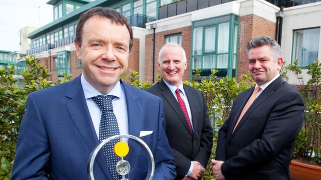 Liam O'Kelly, CEO of Airspeed (left) with Aidan Scollard and Jim Mulqueen from RSM Farrell Grant Sparks