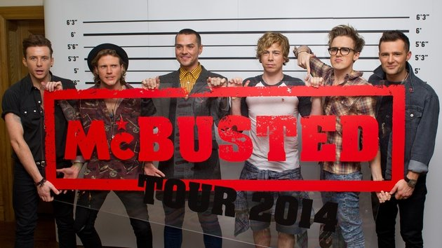 McBusted hit Dublin on Monday (Tom is second from right)