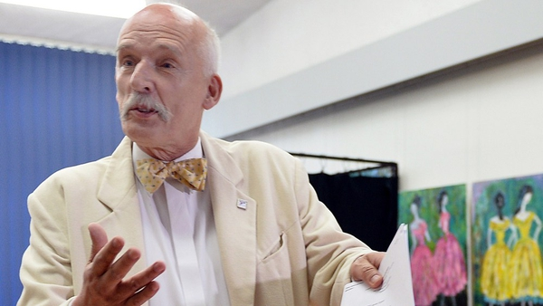 Janusz Korwin-Mikke made his comments during a live TV debate