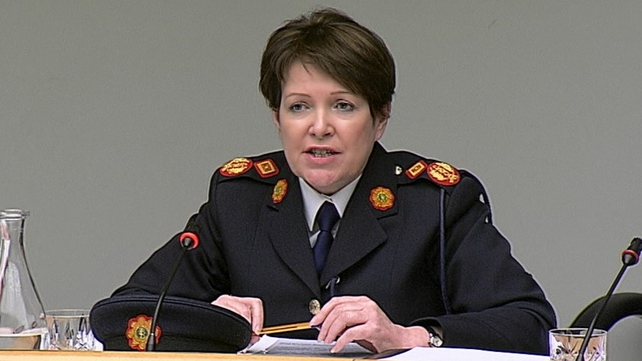 Nóirín O'Sullivan appeared before the committee for the first time as acting Garda Commissioner