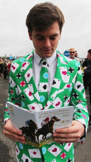 Suits you, Sir: Daniel Wilson from Kildare at the Curragh
