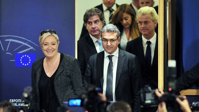 Marine Le Pen announced plans to form a political grouping