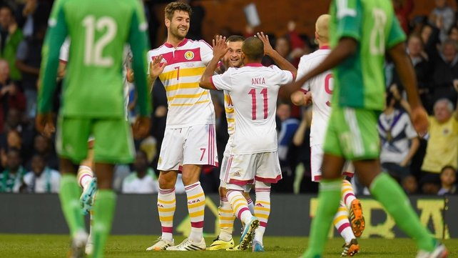 Charlie Mulgrew scored Scotland's first with a beautiful flick