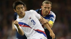 Left back Yun Suk-young will compete for a starting spot in Brazil