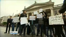 Language students protest at the GPO