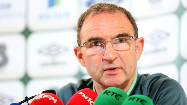 Martin O'Neill answers questions about Roy Keane's future at a press conference in the Aviva Stadium