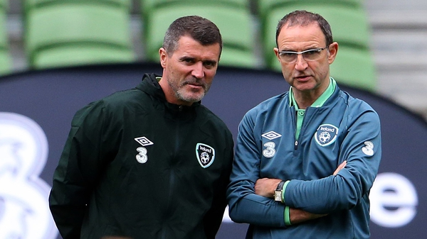 Martin O'Neill (right) would like Roy Keane's situation resolved by the end of July