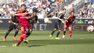 Alvaro Saborio in action for Real Salt Lake