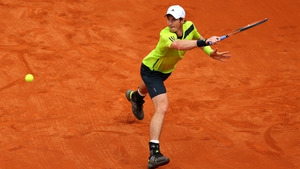 Britain's Andy Murray returns a shot during his men's singles match against Marinko Matosevic of Australia on day five of the French Open at Roland Garros