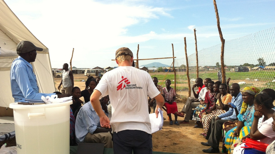 The Health Promotion team receive training in creating awareness about the disease among the local community (Pic: Lara Jonasdottir/MSF)