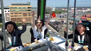 RTÉ TEN's Taragh Loughrey-Grant was one of the lucky diners who got to try Centra's new gourmet sandwich range 100ft above Dublin.