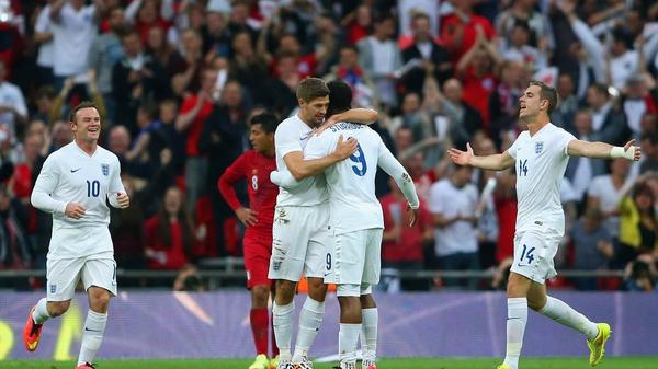 Daniel Sturridge put England ahead with a sublime curling strike