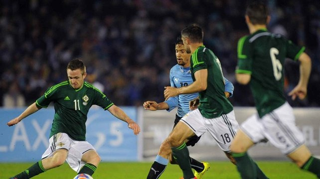 Northern Ireland put in a brave performance against Uruguay