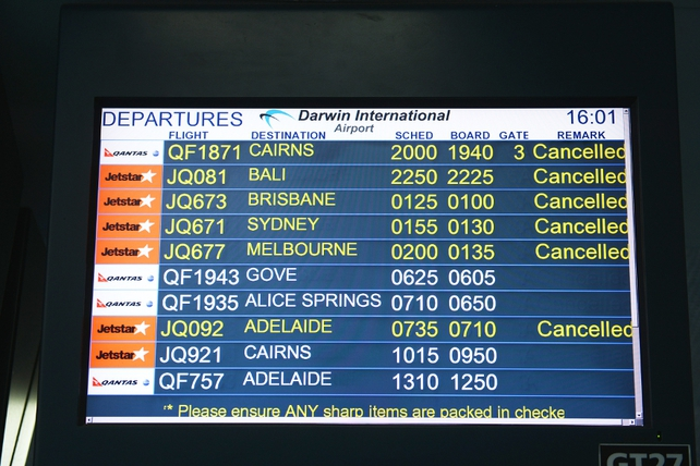 Airservices Australia has reportedly begun diverting international flights around the ash plume
