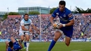 Kirchner scores a try for Leinster against Glasgow in the Pro12 final