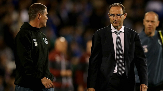 Martin O'Neill was happy with the way Ireland acquitted themselves against Italy and expects a decision on Roy Keane's future before they fly ou