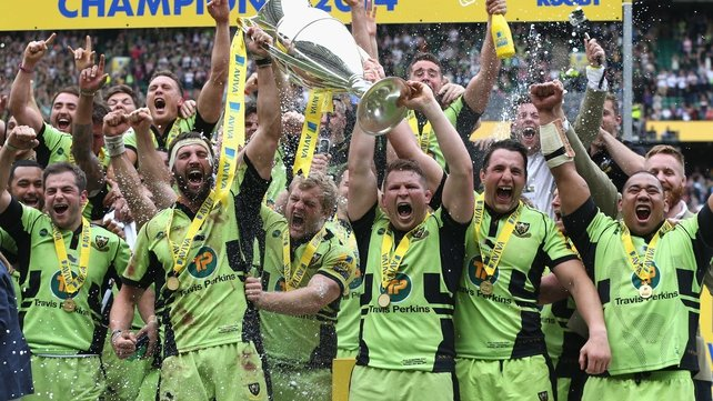 Northampton handed Saracens their second final defeat in a week after their Heineken Cup final defeat to Toulon