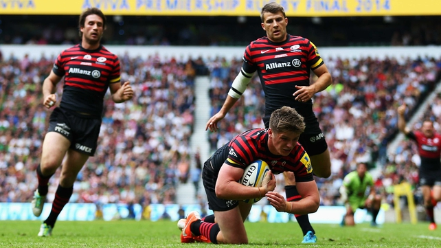 Owen Farrell touched down in the second half but the score was disallowed