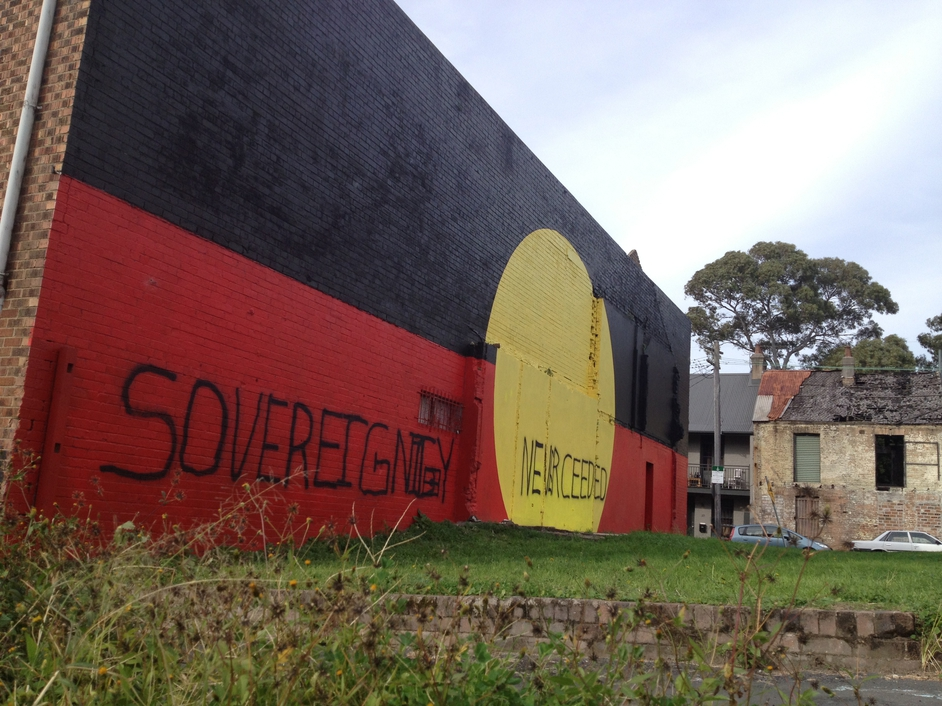 Sydney's inner city suburb Redfern, spiritual home to many aboriginal people, gets its message across during National Reconciliation Week in Australia