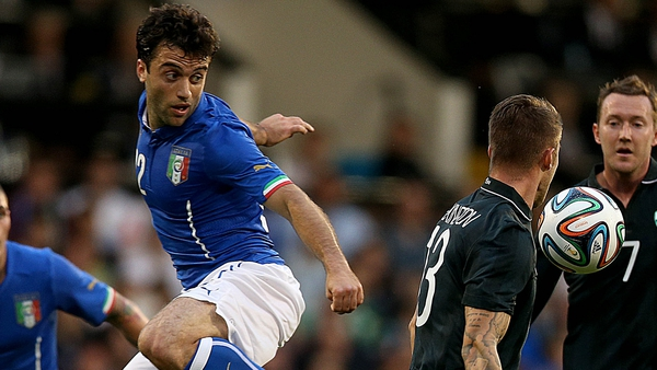 Guiseppe Rossi played in Saturday's friendly against Ireland but failed to make the cut for the World Cup