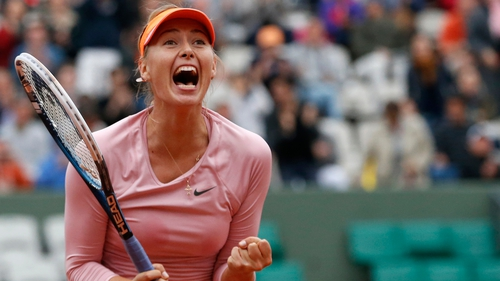 Maria Sharapova's accuracy from the baseline helped her defeat Samantha Stosur