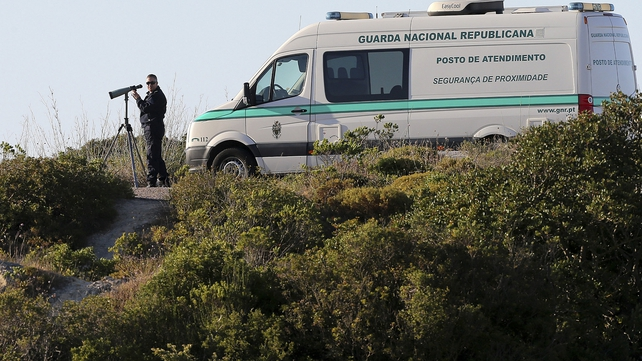 Police have cordoned off an area of scrubland in Portugal