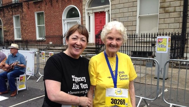 89-year-old Maureen Armstrong from Co Tipperary is the oldest participant in this years mini marathon