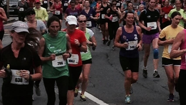 Thousands of women are taking part in the Flora Women's Mini Marathon