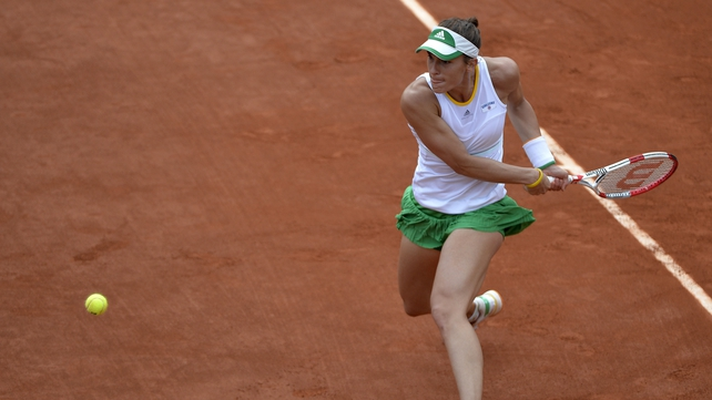 Andrea Petkovic is in the last eight in Paris