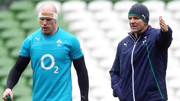 Paul O'Connell (l) on John Plumtree: 'He's a fairly laid-back guy and very experienced - he was great'
