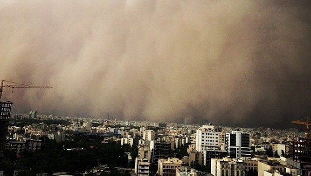 Four people died after a sandstorm hit Tehran