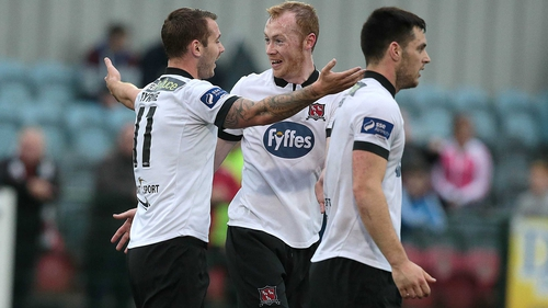 Dundalk's Kurtis Byrne celebrates his goal